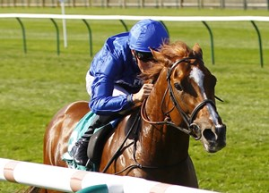 Masar and William Buick win the Bet365 Craven Stakes at Newmarket.