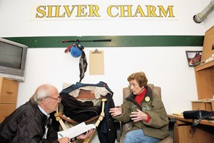 Bill Nack and Beverly Lewis in 2006 at Churchill Downs
