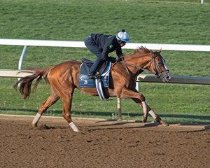Good Magic worked four furlongs at Keeneland April 21