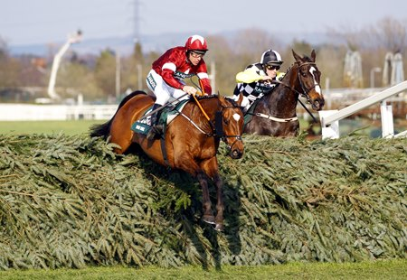 Tiger Roll and Davy Russell on the way to victory in the Grand National at Aintree