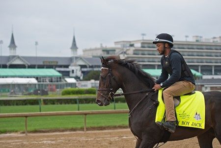 My Boy Jack Morning scenes at Churchill Downs on April 25, 2018 Churchill Downs in Louisville, Ky.