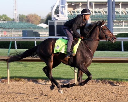 My Boy Jack on the track at Churchill Downs on April 30, 2018