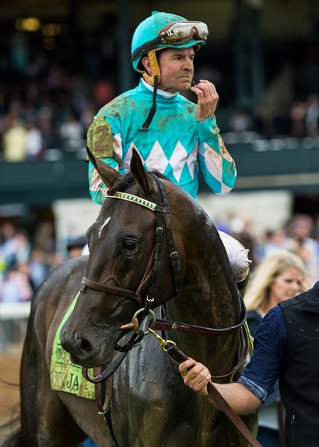 My Boy Jack with Kent Desormeaux up win the Stonestreet Lexington Stakes at Keeneland on April 14th, 2018