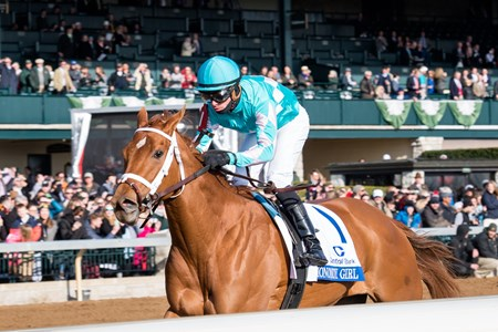 Monomoy Girl with Florent Geroux up wins the Central Bank Ashland (G1) at Keeneland on April 7, 2018 Keeneland in Lexington, Ky.