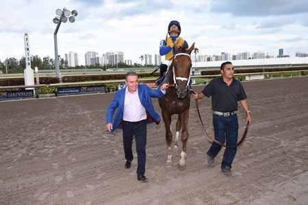Hi Happy wins the 2018 Pan American Stakes