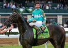 My Boy Jack and jockey Kent Desormeaux after their victory in the Lexington Stakes at Keeneland