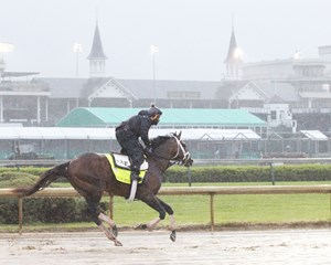 Magnum Moon gallops April 24 at Churchill Downs