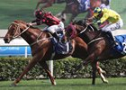Time Warp (inside) holds off Werther in the Hong Kong Gold Cup at Sha Tin