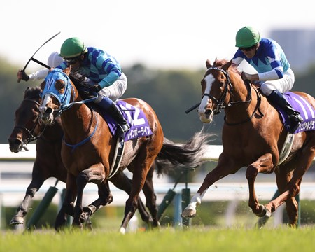Rainbow Line (JPN) wins the 2018 Tenno Sho Spring