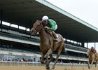 Kirby's Penny wins the Vagrancy Handicap at Belmont Park