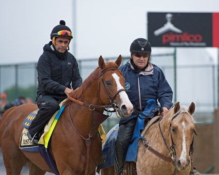 Justify Morning scenes at Pimlico during Preakness week on May 17, 2018