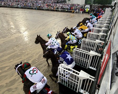 The start of the 144th Running of the Kentucky Derby (GI) at Churchill Downs on May 5, 2016.