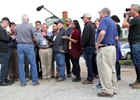 Todd Pletcher holds court with the media May 2 at Churchill Downs