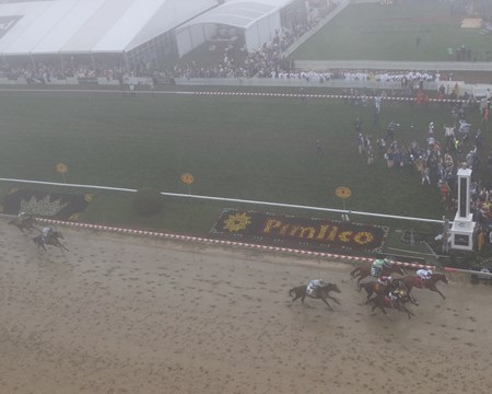 The finish of the Preakness Stakes at Pimlico on May 19, 2018