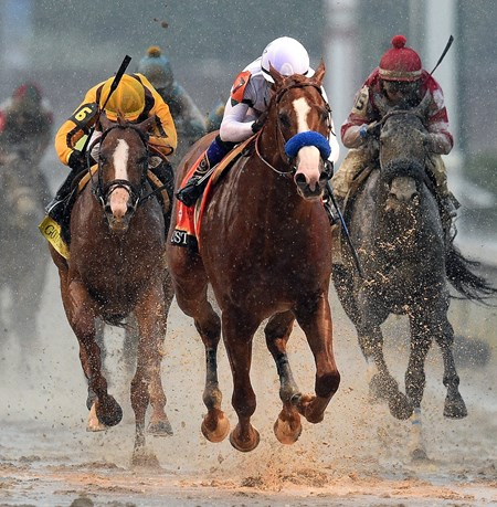 (May 5, 2018) Justify (7) Mke Smith up, wins the 144th Kentucky Derby