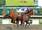 Page McKenney wins the Savator Mile at Monmouth Park