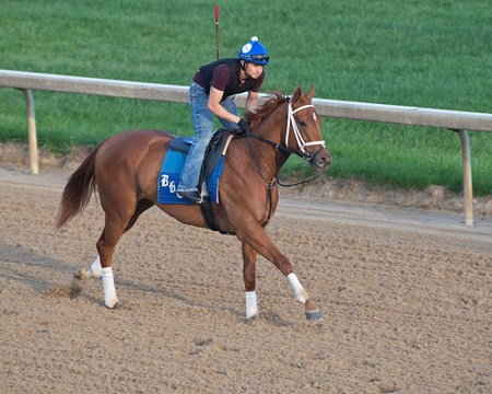 Monomoy Girl on May 10, 2018 Churchill Downs in Louisville, Ky.