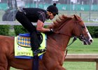 Justify trains May 3 at Churchill Downs