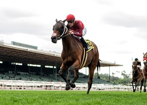 Itsinthepost wins the Charles Whittingham Stakes at Santa Anita Park
