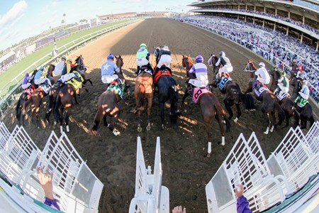 The start of the Breeders' Cup Juvenile at Del Mar on November 4, 2017.