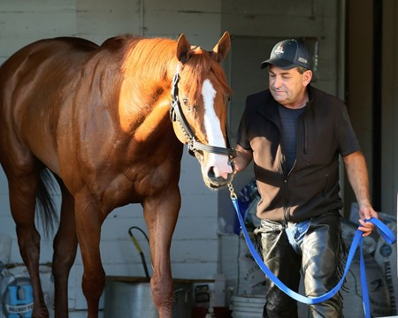 Jimmy Barnes with Justify - Churchill Downs - May 10, 2018