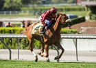 Treasuring wins the Senorita Stakes at Santa Anita Park