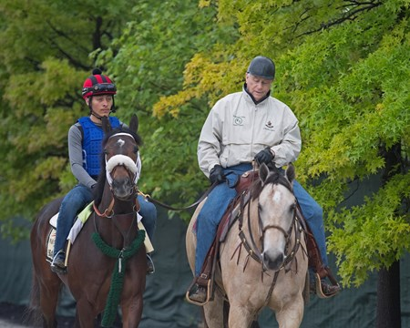 D. Wayne Lukas with Bravazo Morning scenes at Pimlico during Preakness week on May 16, 2034 WinStar in Versailles, Ky.