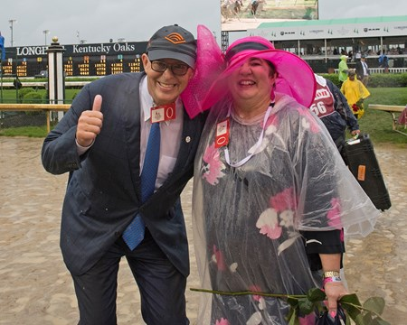 Elliott Walden and his wife after Derby WC. Justify with Mike Smith wins the Kentucky Derby (G1) on May 5, 2018 Churchill Downs in Louisville, Ky.