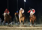 Social Misfit (middle) wins the Louisiana Legends Classic at Evangeline Downs