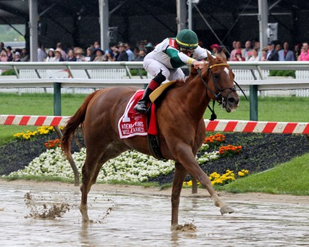 Happy Like a Fool with Tyler Gaffalione win the 33rd Running of the Miss Preakness Stakes (GIII) at Pimlico on May 18, 2018