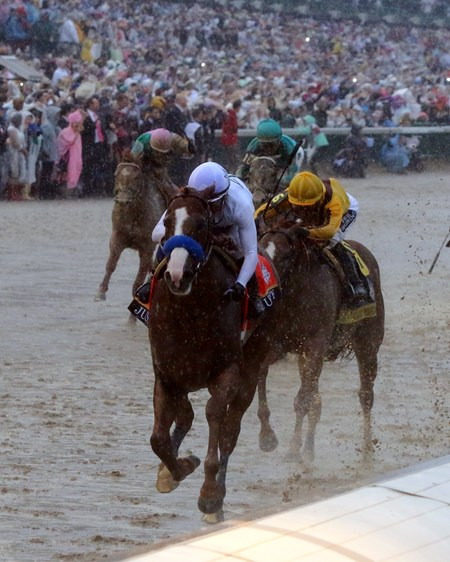 Justify with Mike Smith win the 144th Running of the Kentucky Derby (GI) at Churchill Downs on May 5, 2018
