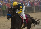 Ax Man wins the Sir Barton Stakes at Pimlico