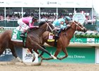 Monomoy Girl holds off Wonder Gadot to win the Kentucky Oaks