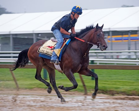Lone Sailor at Pimlico during Preakness week on May 17, 2018
