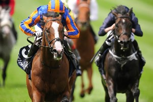 Lancaster Bomber wins the Tattersalls Gold Cup by two lengths at the Curragh