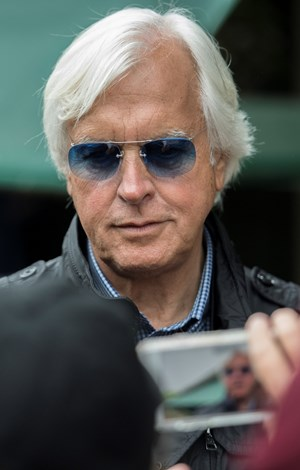 Hall of Fame trainer Bob Baffert shopped for prospects the day before the Fasig-Tipton Midlantic sale and a day after Justify won the Preakness