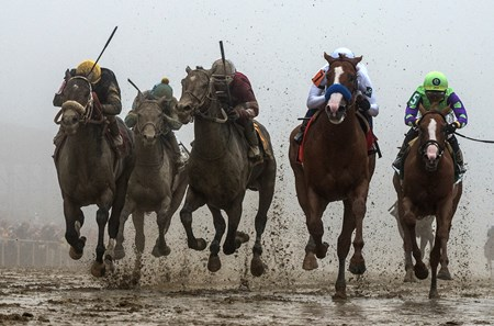 Justify with jockey Mike Smith wins the 143rd running of the Preakness Stakes