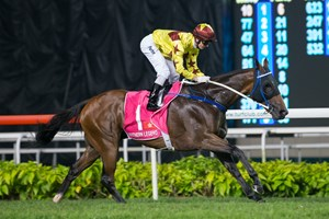 Southern Legend captures the Kranji Mile.