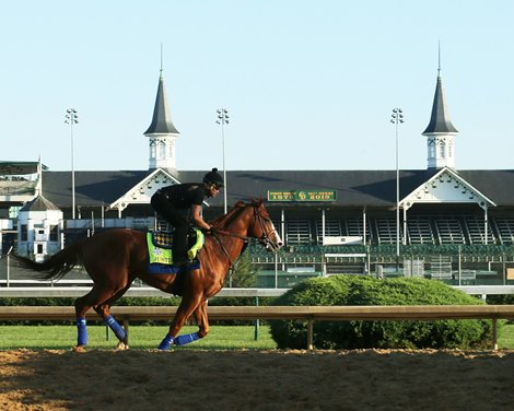Justify Impresses In Return To The Track Bloodhorse
