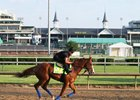 Justify gallops at Churchill Downs