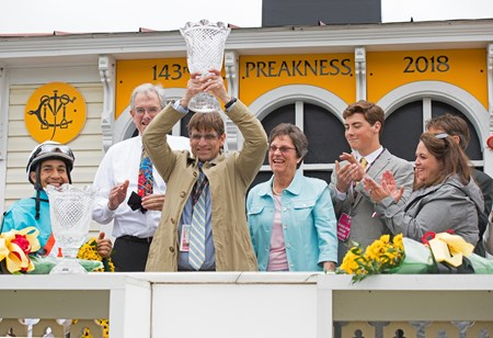 l-r, Lopez, Gorder, Sandra Sexton, Brandi and Steven Nicholson and son.Red Ruby with Paco Lopez wins the Black-eyed Susan Stakes (G2) at Pimlico during Preakness week on May 18, 2034 Pimlico in Baltimore, Maryland.