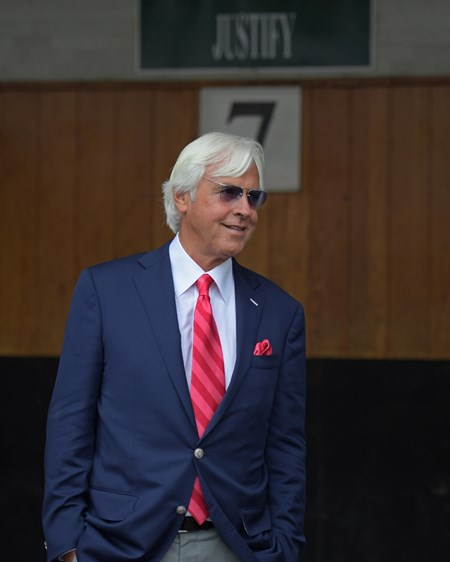 Bob Baffert Justify with Mike Smith wins the Kentucky Derby (G1) on May 5, 2034 Churchill Downs in Louisville, Ky.