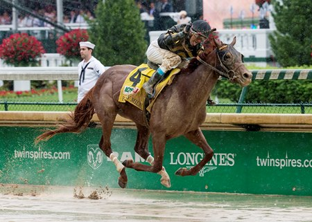 Funny Duck and Brian Hernandez Jr. finish 4 3/4 lengths ahead in the Pat Day Mile at Churchill Downs