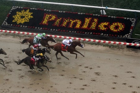 Justify wins the Preakness Stakes Pimlico on May 19, 2018