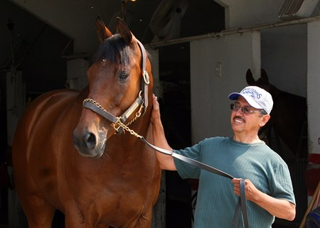 Catlaunch and trainer Ivan Vazquez.