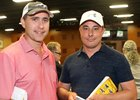 Ben McElroy (left) with Simon Callaghan at the Fasig-Tipton Midlantic sale of 2-year-olds in training