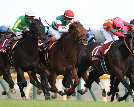 Moonquake wins the 2018 Grade 2 Keio Hai Spring Cup