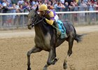 Midnight Disguise wins the Bouwerie Stakes