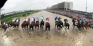 The start of the 144th Running of the Kentucky Derby (GI) at Churchill Downs on May 5, 2018