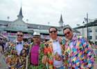 Patrons of Churchill Downs sport their Kentucky Oaks fashion